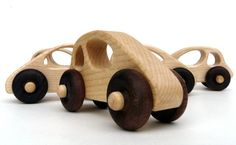 Well made, easy to strap to the stroller and one for each of my little men.    Two wooden Car toys wooden toys organic kids by littlesaplingtoys