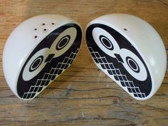 cute little black and white owls