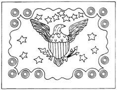 Hooked Rug Pattern ... Patriotic ... Emma Lou's Primitives
