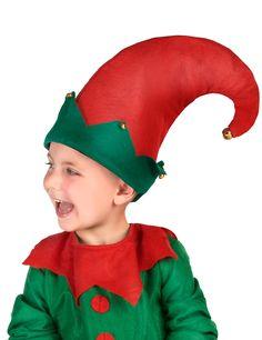b23295005bc4a Chapeau lutin avec grelots enfant : Ce chapeau de lutin pour enfant est  rouge et vert