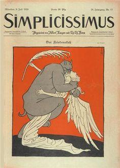 Simplicissimus, Kiss of Peace (1919). Cover art by Thomas Theodor Heine