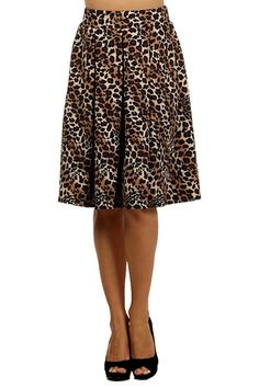 Modern Kiwi Leopard Pleated Midi Stretch Skirt >>> This is an Amazon Affiliate link. You can find more details by visiting the image link.
