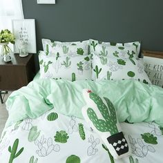 Cheap bedding cover, Buy Quality bedding pattern directly from China bedsheet fabric Suppliers: Simple style cactus banana Clouds bedding set cotton 4pcs bedding bed linen king queen twin size Quilt/duvet cover set bedsheets