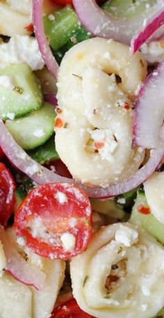 Mediterranean Tortellini Salad with Red Wine Vinaigrette   Joanne Eats Well With Others