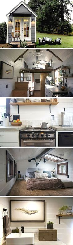 Amazing Shed Plans - The NW Haven tiny house by Tiny Heirloom - Now You Can Build ANY Shed In A Weekend Even If You've Zero Woodworking Experience! Start building amazing sheds the easier way with a collection of shed plans! Tyni House, Tiny House Living, Small Living, House Bath, Rv Living, Living Room, Tiny House Movement, Tiny House Plans, Tiny House On Wheels