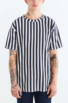 Your Neighbors Vertical Stripe Tee - Urban Outfitters