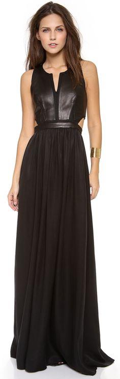 Rebecca Taylor Sleeveless Cutout Maxi Dress in Black - Lyst Estilo Fashion, Mode Inspiration, Dress Me Up, Dress To Impress, Beautiful Dresses, Evening Dresses, Fashion Beauty, Glamour, Party Dress