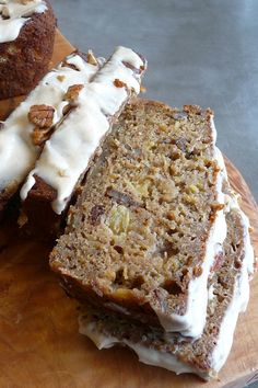 Hummingbird Bread with Browned Butter Cream Cheese Glaze | Pineapple | Banana | Pecans