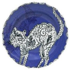 222 Fifth Wiccan Lace Purple Salad Plates - Set of 4 : Target