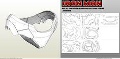 pdo file template for Iron Man - Full Armor. Halo Cosplay, Iron Man Cosplay, Cosplay Diy, Pepakura Iron Man, Cardboard Costume, Lego Custom Minifigures, Iron Man Movie, Iron Man Art, Airsoft Mask
