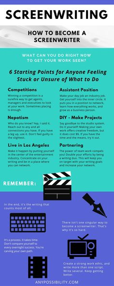 How to Become a Screenwriter: 6 Starting Points for anyone who is writing but doesn't know what to do with their work. Take your screenplay to the next level. Screenwriting | Filmmaking | Los Angeles