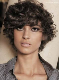Fashion Stylish Short Curly Human Hair Wig for Black Women 8 Inches - Best Frisuren ideen Short Haircuts Curly Hair, Thin Curly Hair, Hairstyles With Bangs, Short Hair Cuts, Frizzy Hair, Curly Short, Curly Pixie, Layered Haircuts, Curly Bob
