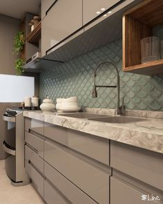 ideas bedroom small apartment entryway for 2019 Modern Kitchen Interiors, Modern Kitchen Cabinets, Modern Farmhouse Kitchens, Kitchen Tiles, Kitchen Furniture, Home Kitchens, Kitchen Room Design, Kitchen Cabinet Design, Kitchen Decor