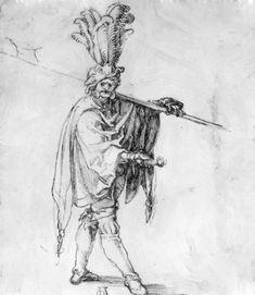 Landsknecht via Albrecht Durer Albrecht Dürer, Renaissance Artists, Landsknecht, Jan Van Eyck, Muse Art, Art Database, Caravaggio, Book Projects, Old Master