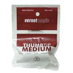 Thumb Tip Medium (vinyl) by Vernet - 25 years ago Vernet made a revolution in the world of magic with the production of the Vernet Thumb Tip. Now, it did it again!!! Vernet introduce the new Thumb Tip Soft. New Material: It's made in an entirely new soft material (not rubber). New Size: It's a bit wider and longer than the classic one, but a bit shorter than the King Size. ... get it here: http://www.wizardhq.com/servlet/the-15793/thumb-tip-medium-vinyl-by-vernet/Detail?source=pintrest
