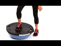 How to Do a Step Up with a Bosu Ball   Exercise Ball Workout