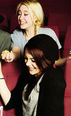 Lily Loveless, and Kathryn Prescott, Skins.