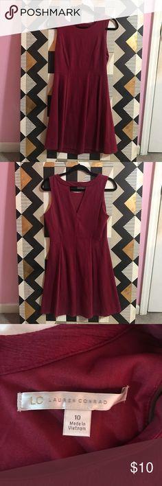 LC Lauren Conrad Dress LC Lauren Conrad burgundy dress LC Lauren Conrad Dresses
