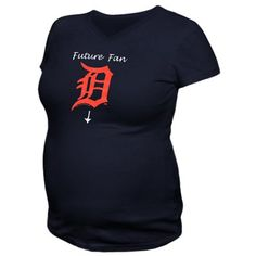 Detroit Tigers Maternity Future Fan V-Neck T-Shirt - Navy