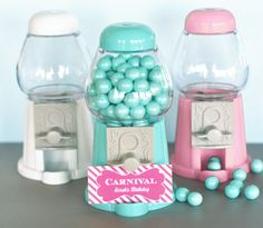 Gumball Machines in Assorted Colours