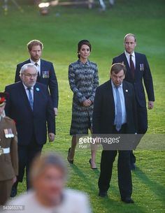 The Duke and Duchess of Cambridge and Prince Harry attend part of a military-led vigil to commemorate the 100th anniversary of the beginning of the Battle of the Somme at the Thiepval memorial to the...