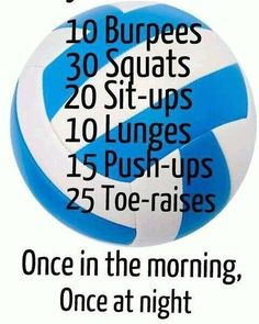 Reposted from @livelovevolleyball_7 Volleyball workout to stay in shape for…