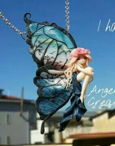 Hada. Fairy, Pasta, Clay, Statue, Diy Necklace, Elves, Mermaids, Faeries, Porcelain