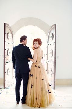 #Romantic Romanian #Wedding with the Bride in a Butterfly #Gown...