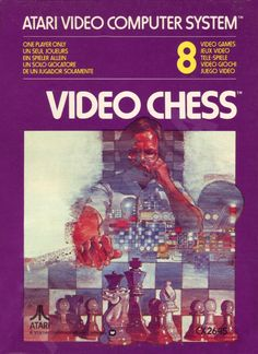 Video Chess for Atari Vintage Video Games, Retro Video Games, Video Game Art, Retro Games, Pac Man, Atari Video Games, See Games, Software, School Games