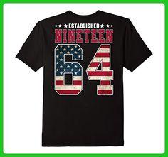 Mens Established Nineteen 1964 Birthday Gift For 53 Years Old Small Black - Birthday shirts (*Amazon Partner-Link)