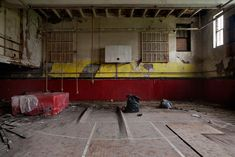 Horace Mann School, Kansas City, MO - The gymnasium sat underneath the theater space, also part of the 1925 addition.