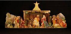 Nativity 3D paper cut out.