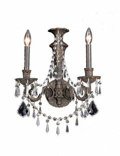 Crystorama 5162 Regis 2-lite wall sconce in English Bronze - CRY-5162
