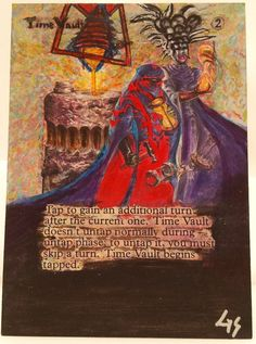 MTG Magic Time Vault Hand Painted Altered Art Card OOAK #WizardsoftheCoast