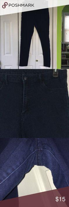 High waist jeggings Dark wash high waist skinny jeggings. Barely worn. H&M Pants Skinny