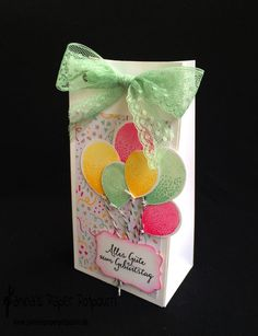 jpp - Geschenktüte / Gift Bag / Geburtstag / Birthday / Stampin' Up! Berlin / Geschenktüten Punchboard / Luftballons / Balloon Bouquet / Partyballons / Balloon Celebration  www.janinaspaperpotpourri.de