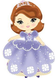 Princesinha Sofia com as cores bem escuras...