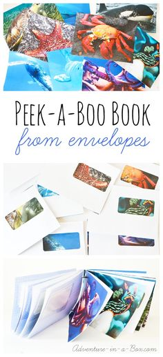Make a Peek-a-Boo book from Envelopes: a fun upcycling idea for kids!