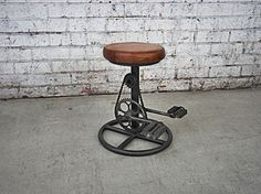 This bicycle stool takes unique to the next level. Made with genuine leather and complete with a bike chain, this is one purchase you will not regret.