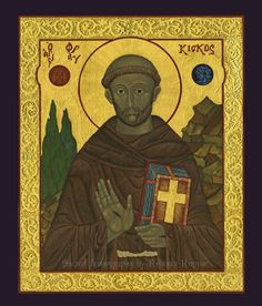 St. Francis of Assisi Icon (Print)