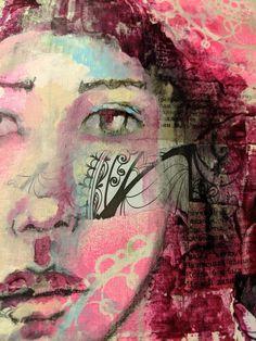 Denise Bos art Medium Art, Mixed Media Art, Movie Posters, Painting, Film Poster, Painting Art, Mixed Media, Paintings, Painted Canvas