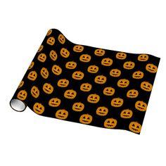 Pumpkin Jack-o-Lantern Gift Wrap by www.CheekyWitch.com #zazzle #halloween #witch #pumpkin #jackolantern #wicca #wiccan #pagan