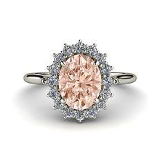 Morganite Ring Diamond.  I think this speaks for itself.  Hmmm...Valentines Day...???