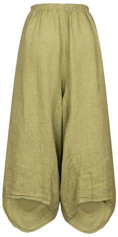 Lagenlook Soft Boho Loose Fit Harem Pants Trousers UK 10-16 Teal Green