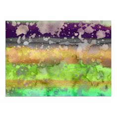 KESS InHouse Ebi Emporium 'California Surf 6' Teal Purple Dog Place Mat, 13' x 18' -- Hurry! Check out this great product (This is an amazon affiliate link. I may earn commission from it)