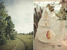 country wedding - pear as place holder