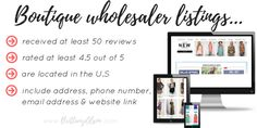Boutique clothing wholesalers with excellent reviews. Find wholesale clothing for your online shop. Sell wholesale clothing online using our list of wholesale distributors. Click for more info about our boutique wholesalers list!