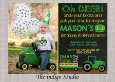 Hey, I found this really awesome Etsy listing at https://www.etsy.com/listing/223285173/tractor-birthday-party-with-or-without