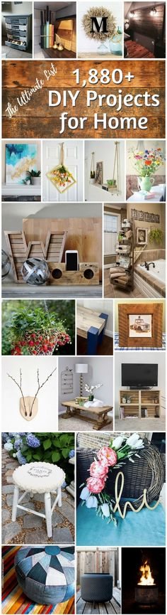You have to see this huge list of #DIY project ideas for home #HomeDecorIdeas @istandarddesign