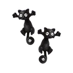 This cute kitty duo are an excited couple of cats, always looking for a cuddle companion. These cat earrings are the purrfect accessory for any cat lover!